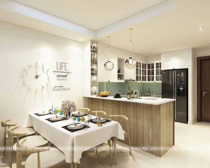 Phòng bếp đơn giản với nét đẹp đặc trưng phong cách Scandinavian