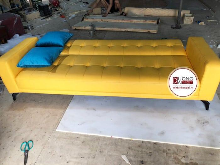 [10/04/2020] Bàn Giao Sofa Giường Cao Cấp, Bọc Da Cho Chung Cư Ở Hà Nội