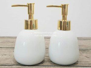 Bình Đựng Dầu Gội Sữa Tắm Khách Sạn Dáng Trứng - SBT110083