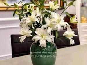 Bình Hoa Chum Xanh S2 Bát Tràng - SBT30173