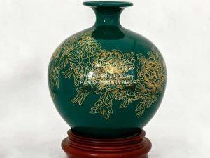 Bình Hút Lộc Vẽ Vàng Kim 22cm - SBT120080