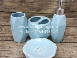 Bộ Bình Dầu Gội Sữa Tắm Dáng Kim Cương - SBT110086