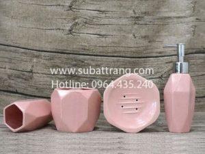 Bộ Bình Dầu Gội Sữa Tắm Dáng Kim Cương - SBT110088