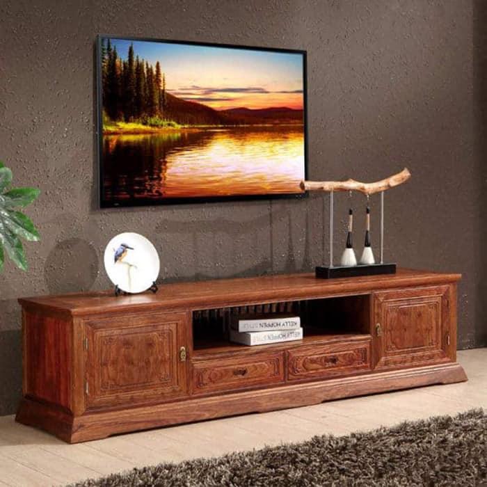 Thiết kế kệ tivi tinh xảo và sang trọng cho phòng khách
