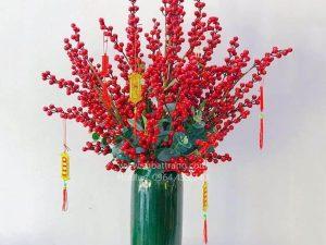 Lọ Hoa Bom Xanh Bát Tràng - SBT30155