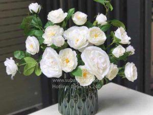 Lọ Hoa Đầm Xanh Bát Tràng - SBT30154