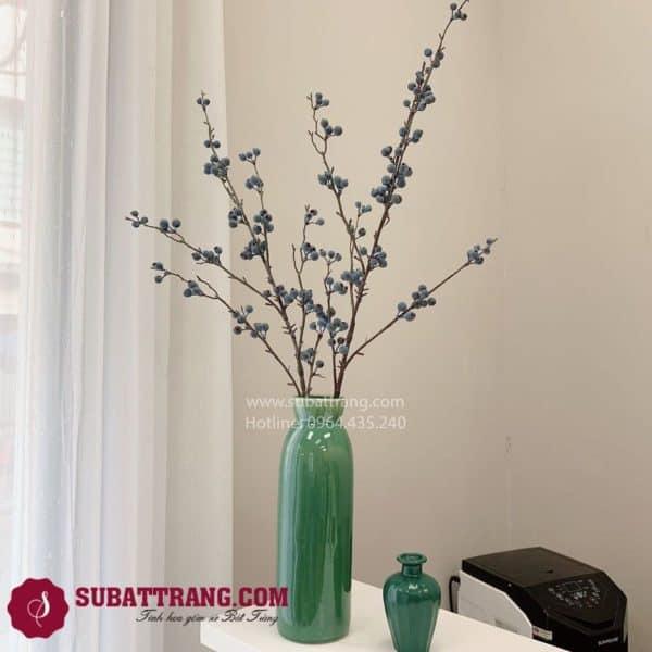 Lọ Hoa Sake Xanh Bát Tràng - SBT30152