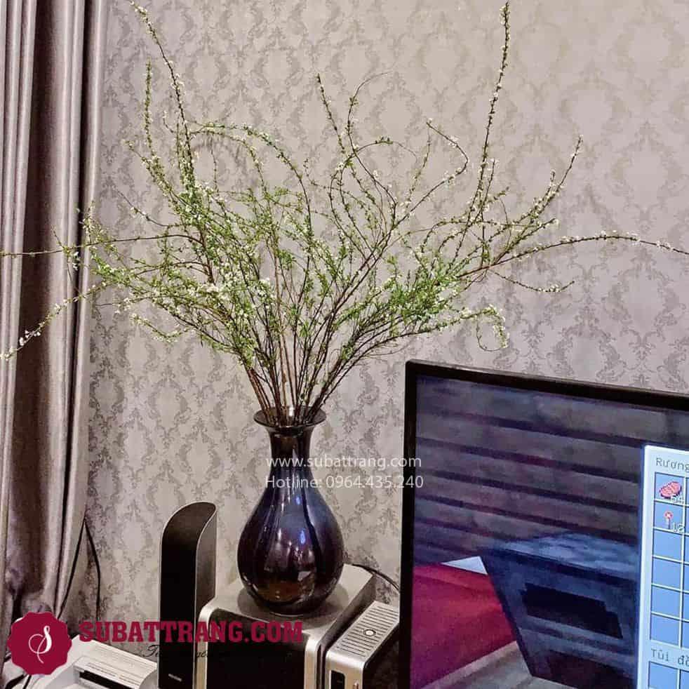 Lọ Hoa Tỳ Bà Men Hỏa Biến Bát Tràng - SBT30167