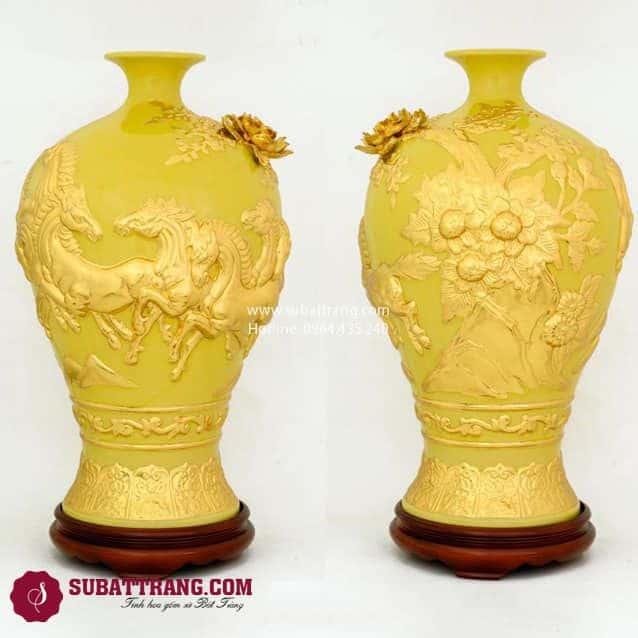 Mai Bình Mã Đáo Thành Công Dát Vàng 50cm - SBT120089