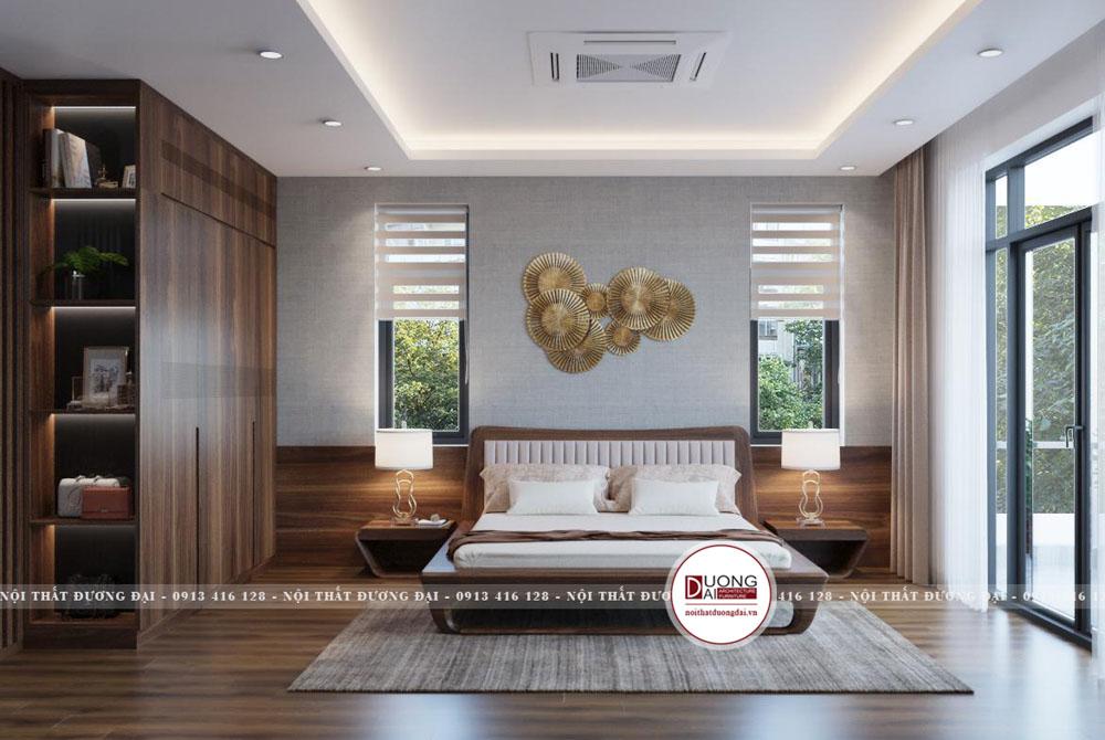 Phòng ngủ được thiết kế theo phòng cách mở