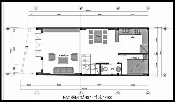 thiết kế nhà 5x13m