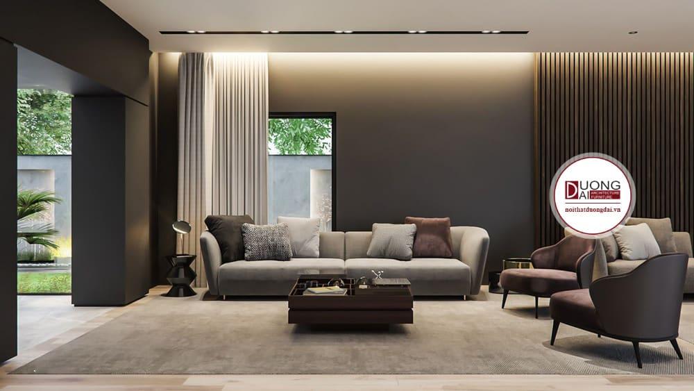 Nội thất gỗ tự nhiên tôn lên nét đẹp quyến rũ và cuốn hút cho phòng khách