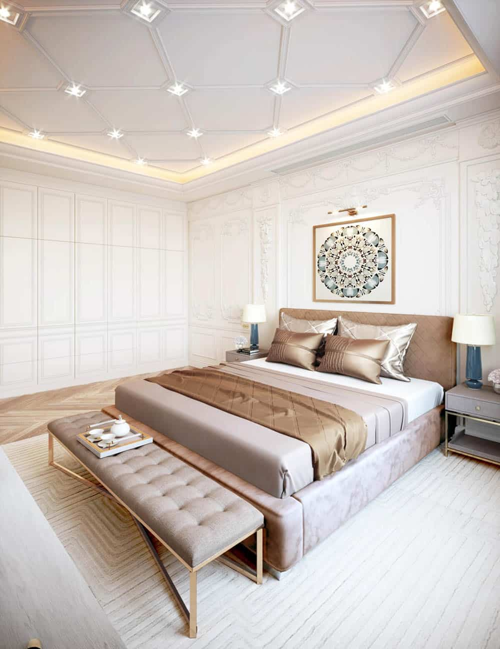 Phòng ngủ tân cổ điển trang nhã và thư giãn