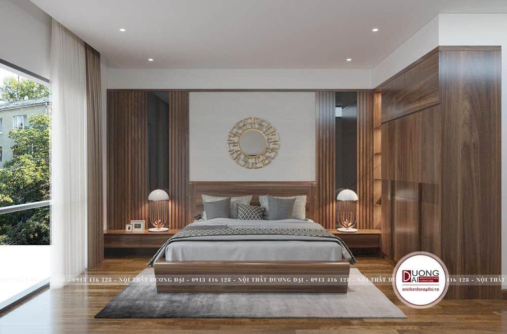 Mẫu giường ngủ và bộ nội thất làm từ gỗ óc chó đẳng cấp