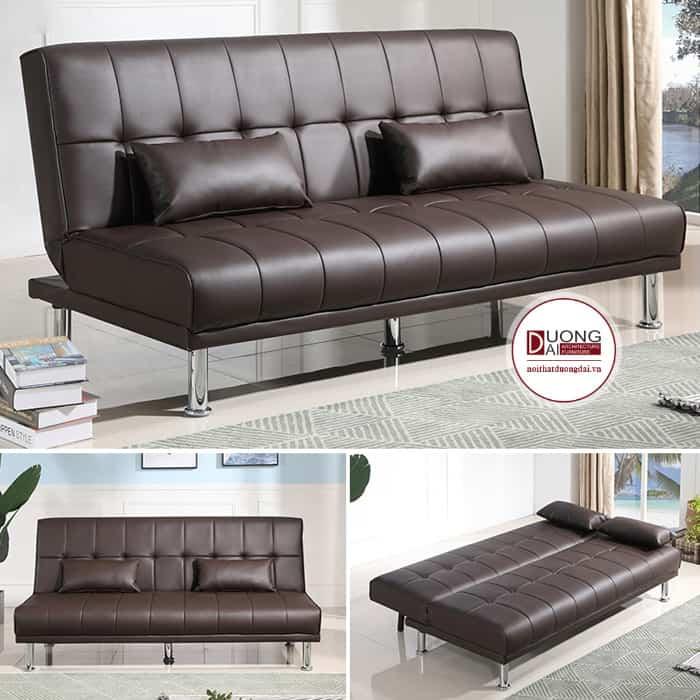 Sofa giường màu nâu socola sang trọng