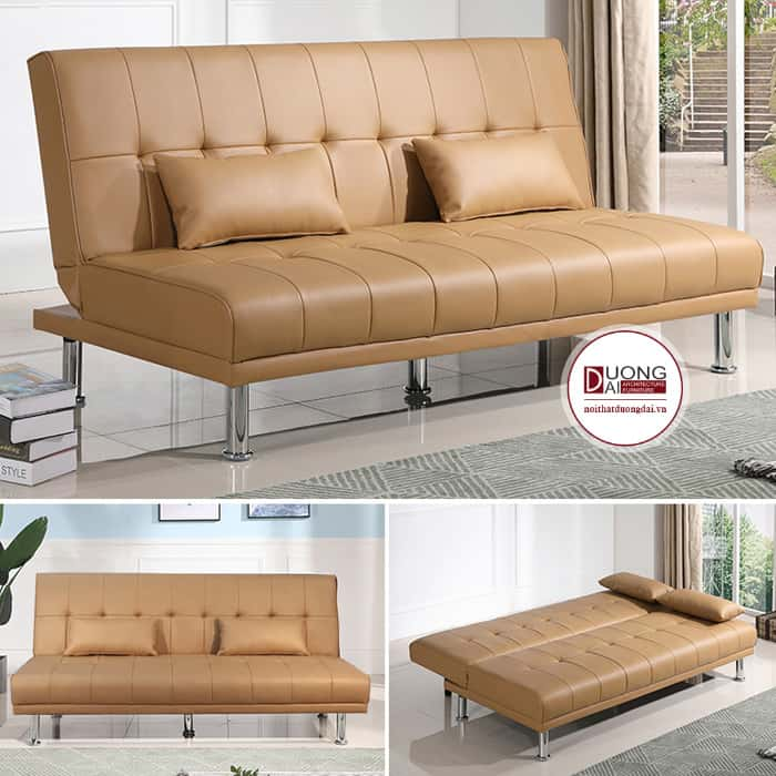 Sofa giường màu cam đậm trang nhã