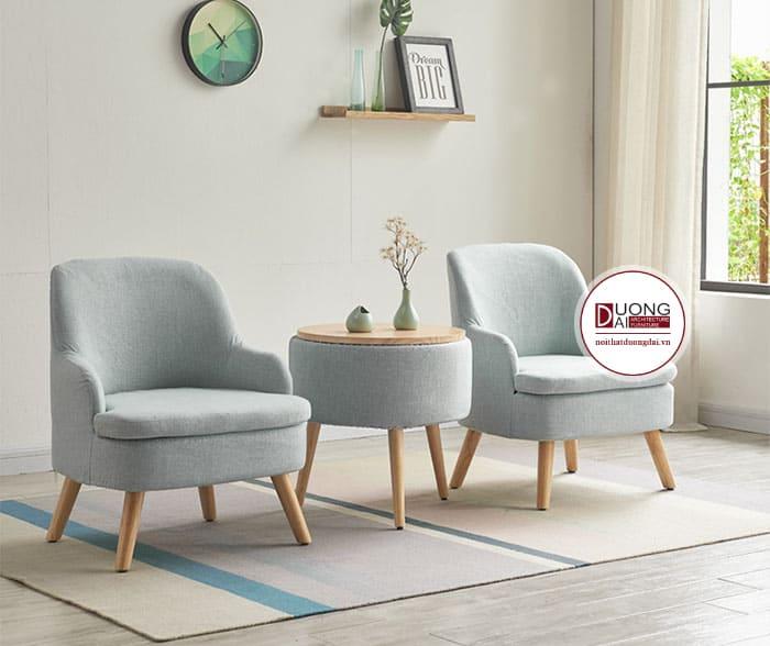 Mẫu ghế sofa màu xanh ghi quý phái