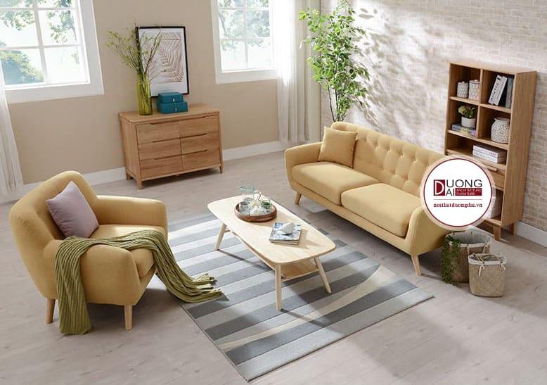 Sofa và ghế đơn lịch sự và trang nhã