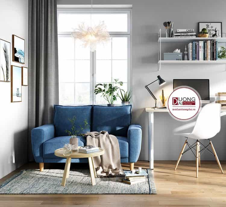 Bộ sofa nhỏ gọn dành cho 2 người trong diện tích hạn chế