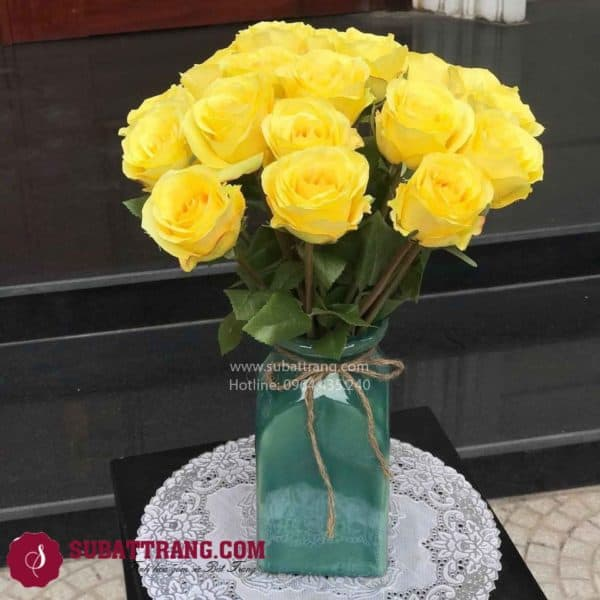 Set 2 Lọ Hoa Vuông Bát Tràng - SBT30163