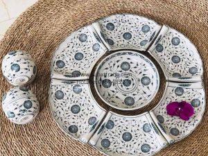 Set Đĩa Hoa Dây Vẽ Tay Bát Tràng - SBT60253