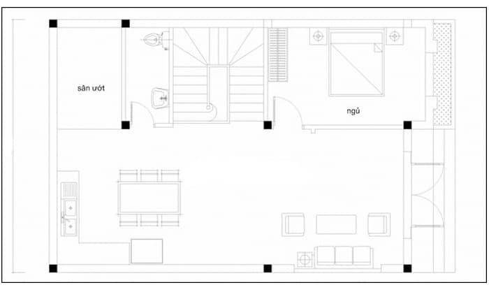 thiết kế nhà rộng 6m dài 9m