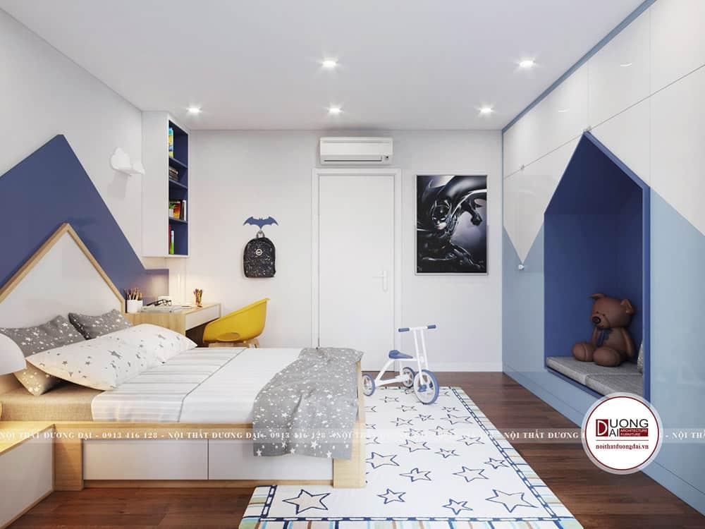 Nội thất gỗ đa năng giúp bé tối ưu không gian