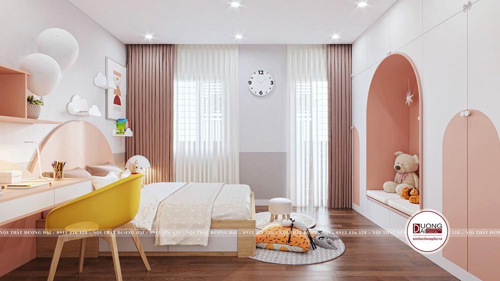 Thiết kế phòng ngủ rất dễ thương và ngộ nghĩnh