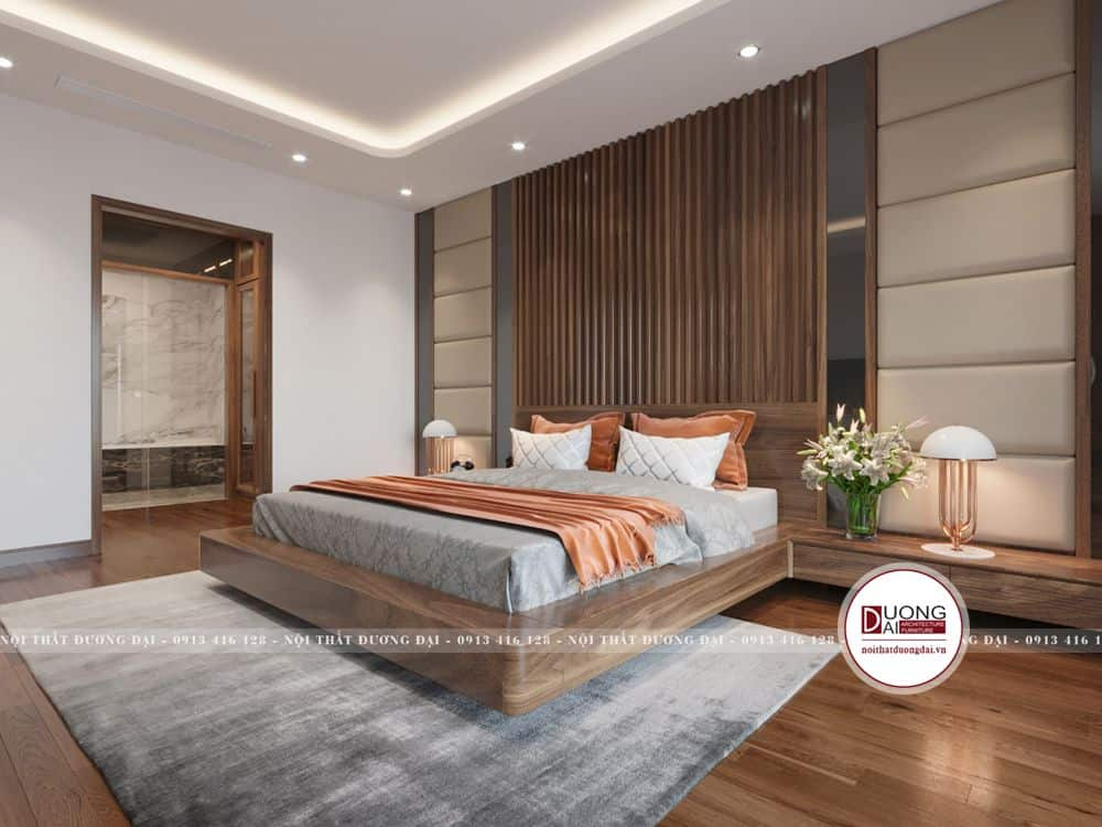 Phòng ngủ Master của vợ chồng chị Hà