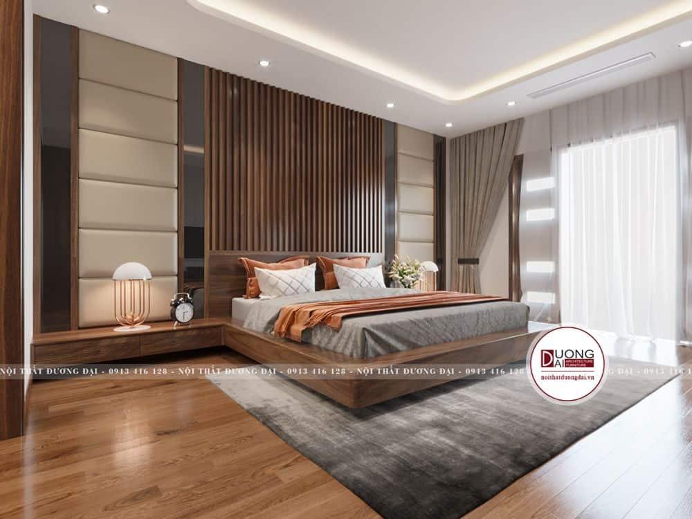 Giường ngủ gỗ sang trọng và thư giãn