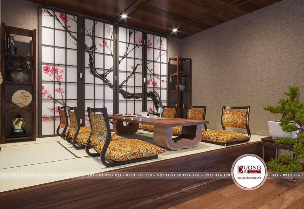 Phòng trà đầy quý phái theo phong cách trà đạo Nhật Bản