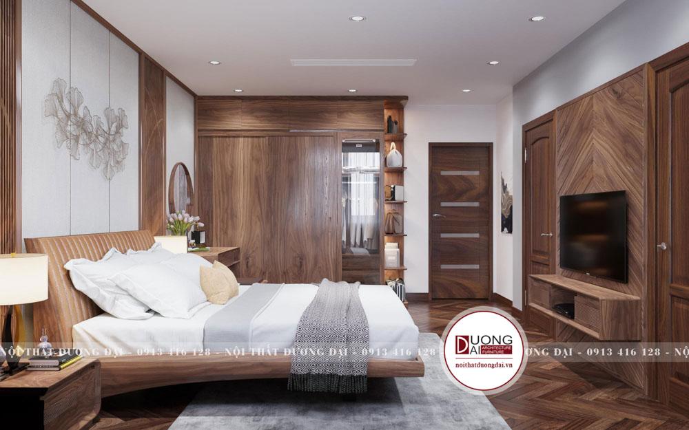 Phòng ngủ gốc óc chó