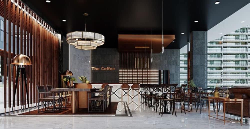 Quán cafe cá tính với gam màu đen quyến rũ