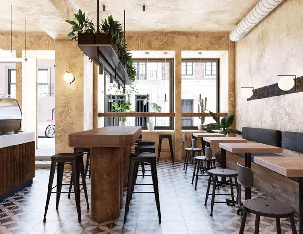 Mẫu quán cafe nhỏ với nét tinh tế và ấm áp