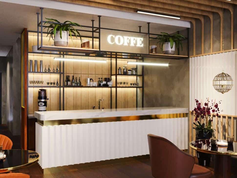 Thiết Kế Quán Cafe Đẹp Ngang 4m Tư Vấn Nội Thất Trọn Gói