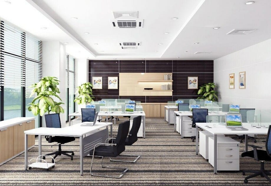 Thiết kế không gian làm việc với diện tích 5x20 đầy tiện nghi