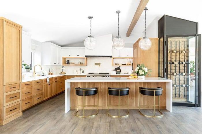 Các loại gỗ tự nhiên làm tủ bếp đẹp và bền