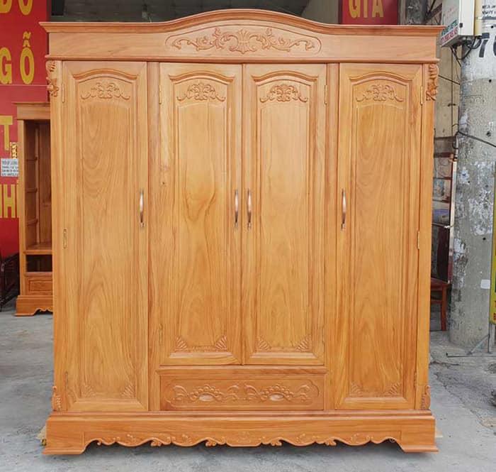 Tủ gỗ gõ đỏ Nam Phi đẹp và đẳng cấp nhất