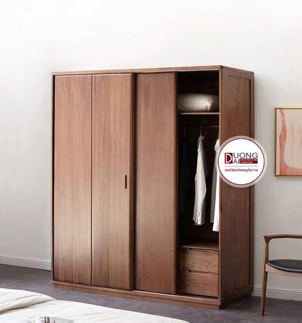 Tủ quần áo đặt trong phòng ngủ hạn chế tình trạng cong vênh