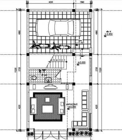Thiết kế nhà 3 tầng 6x11m