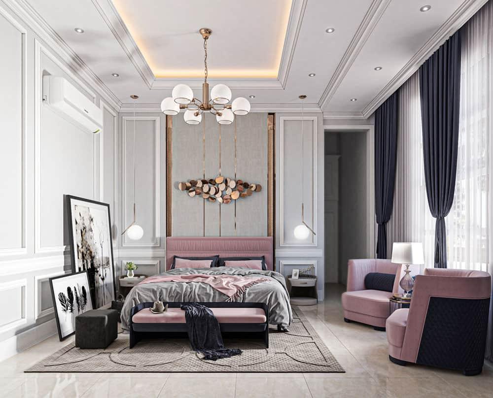 Phòng ngủ nhỏ thật trang nhã và nữ tính mang nét đẹp thật hiện đại
