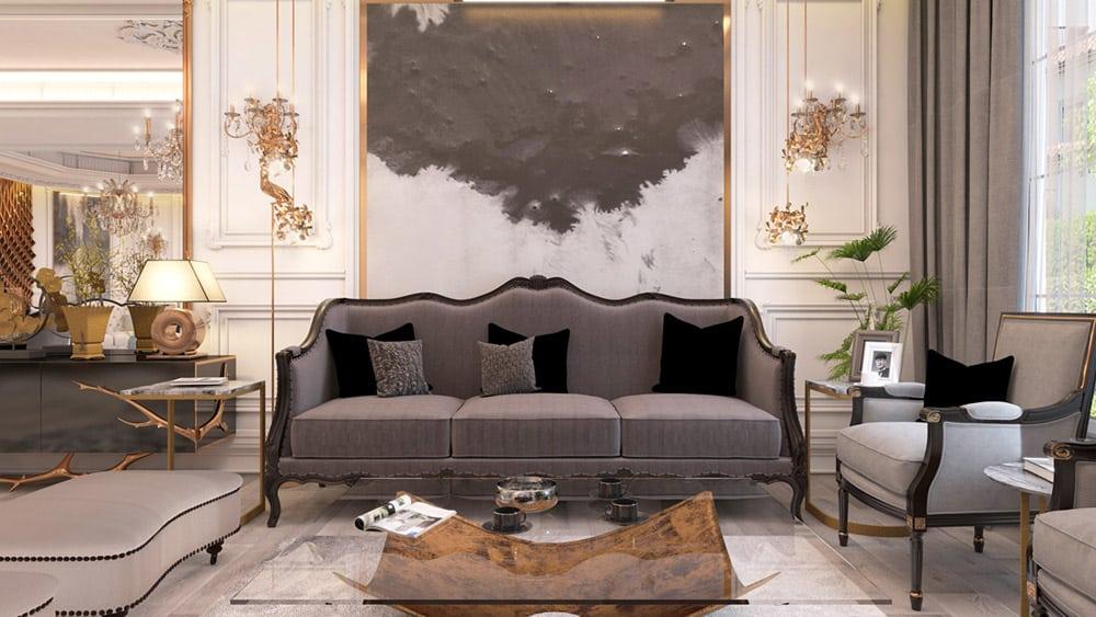 Phòng khách kiểu châu Âu | BST 25+ Thiết kế thời thượng nhất