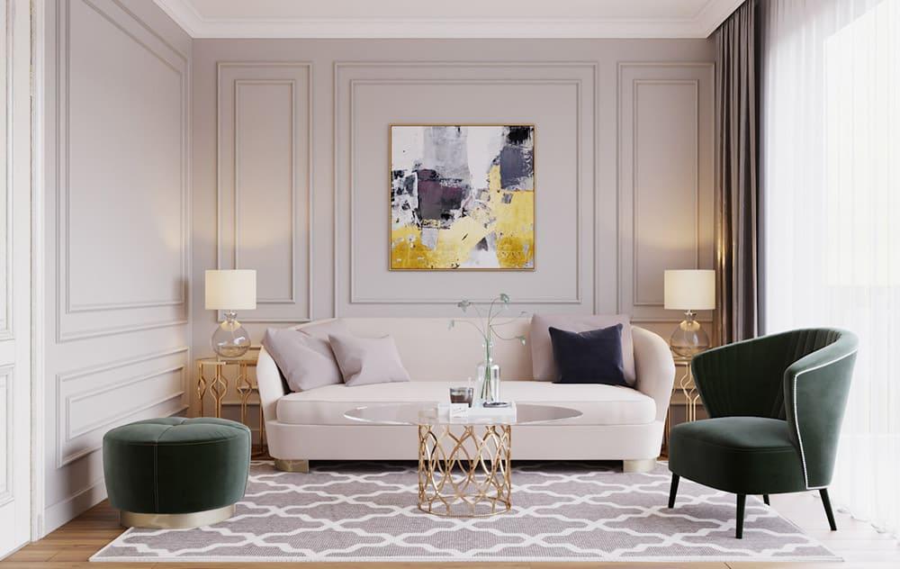 Mẫu phòng khách đơn giản nhưng rất ấn tượng và cá tính
