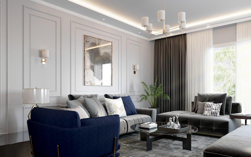 Phòng khách nhỏ với chiều rộng 4m được bài trí thông minh