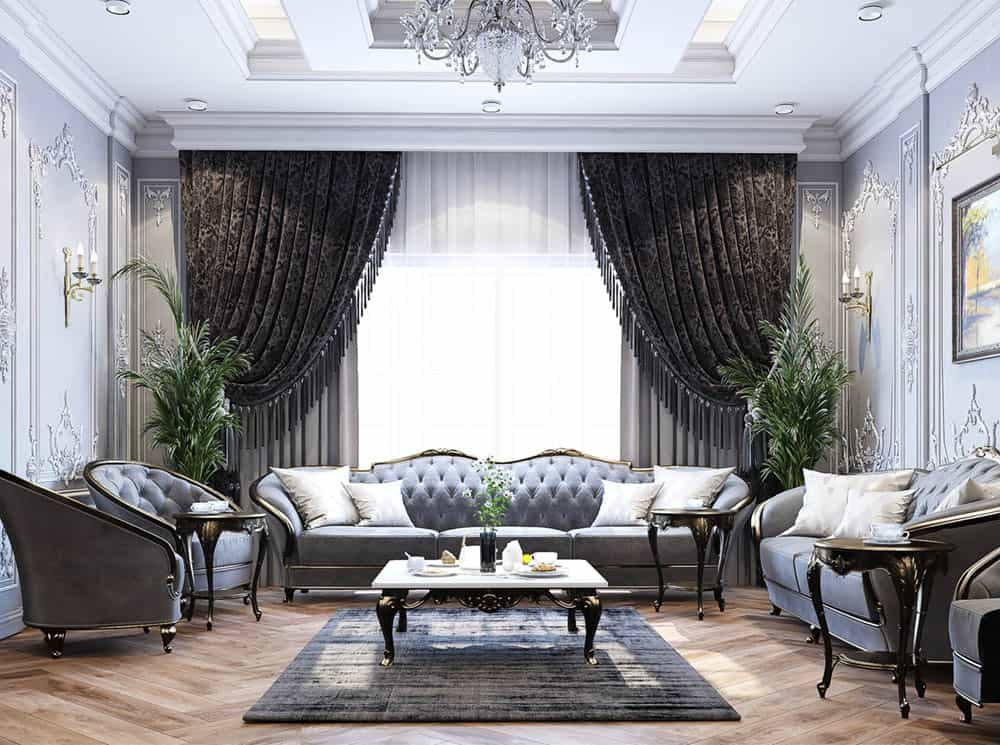 Phòng khách tân cổ điển đẹp đẳng cấp nhất