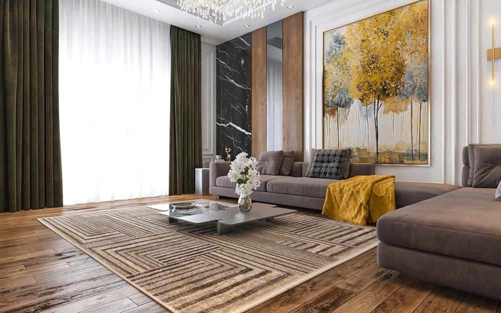Thiết kế đẳng cấp sử dụng gỗ tự nhiên và đá cẩm thạch cao cấp