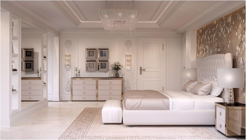 Phòng ngủ trang nhã với màu trắng thanh khiết