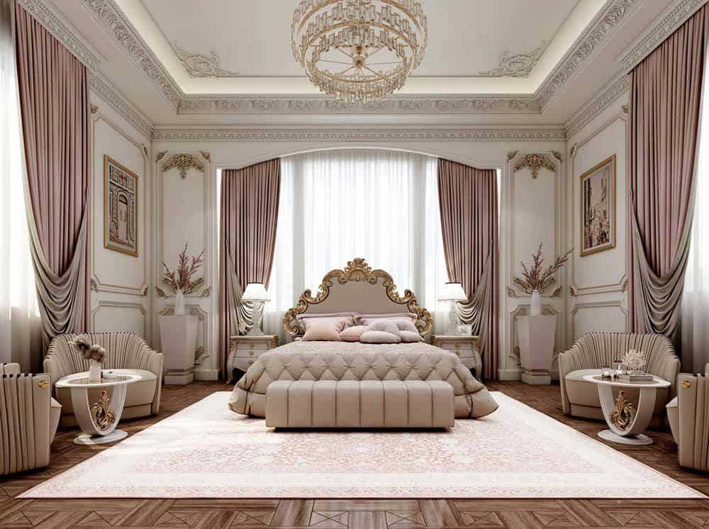 Thiết kế phòng ngủ gam màu hồng nữ tính