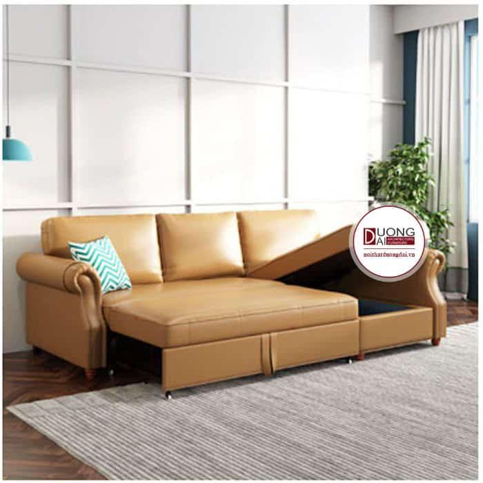 Sofa giường với đệm ngồi nâng hạ ấn tượng và độc đáo