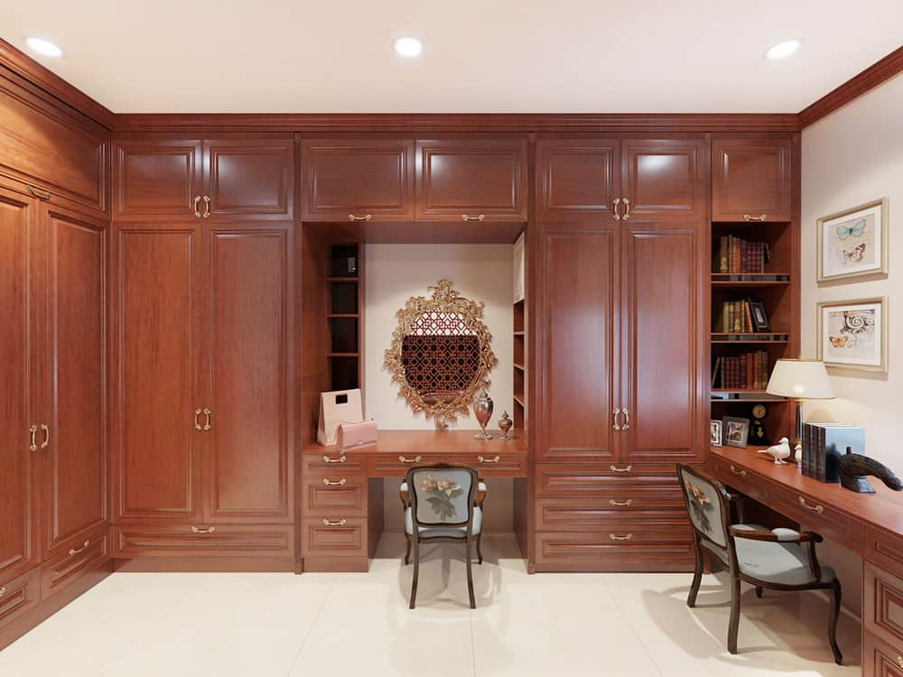 Thiết kế nội thất biệt thự gỗ gõ đỏ sang trọng và đẳng cấp